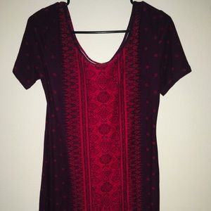 Wine colored dress!